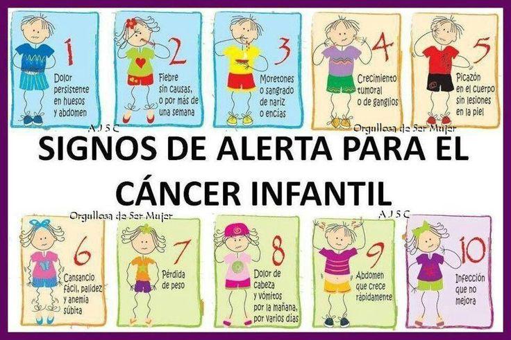 SIGNOS ALERTA CANCER INFANTIL