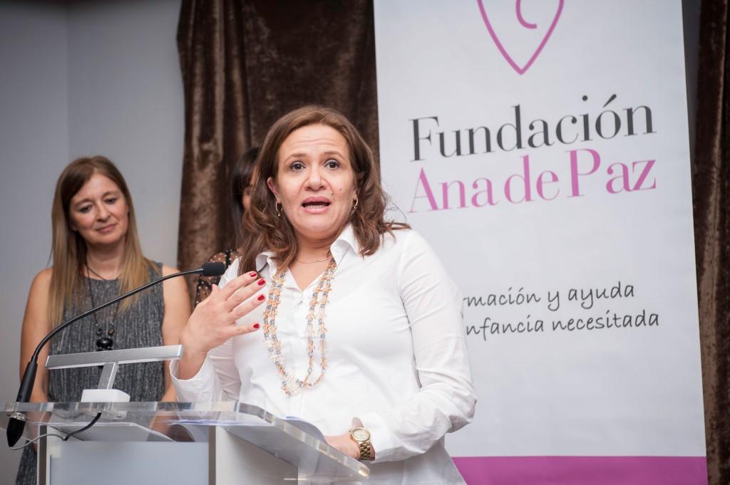 La embajadora del Líbano en España durante su intervención intervención
