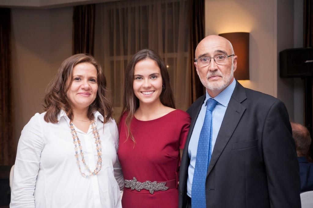 La embajadora del Líbano en España con Ana Hernández y Jesús Hernández