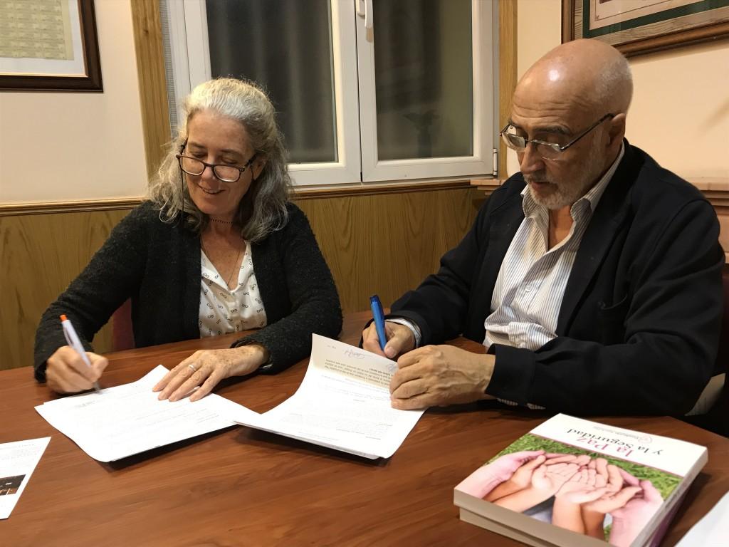 Jesús Hernández Manso, presidente de la Fundación Ana de Paz y Cecilia Puig Gallach, Presidente de la Fundación Emalaikat