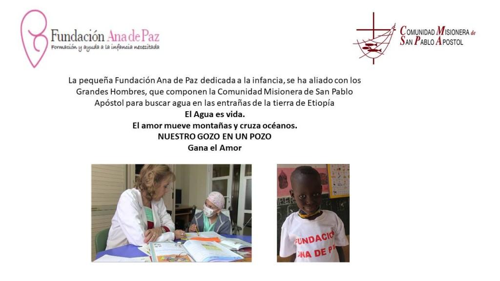 Placa de la Fundación en Etiopia