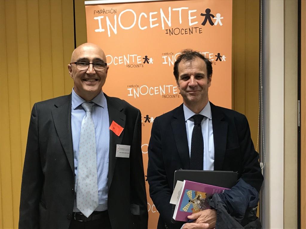 Jesus Hernandez con Jose Velasco, Presidente Fundacion Inocente Inocente