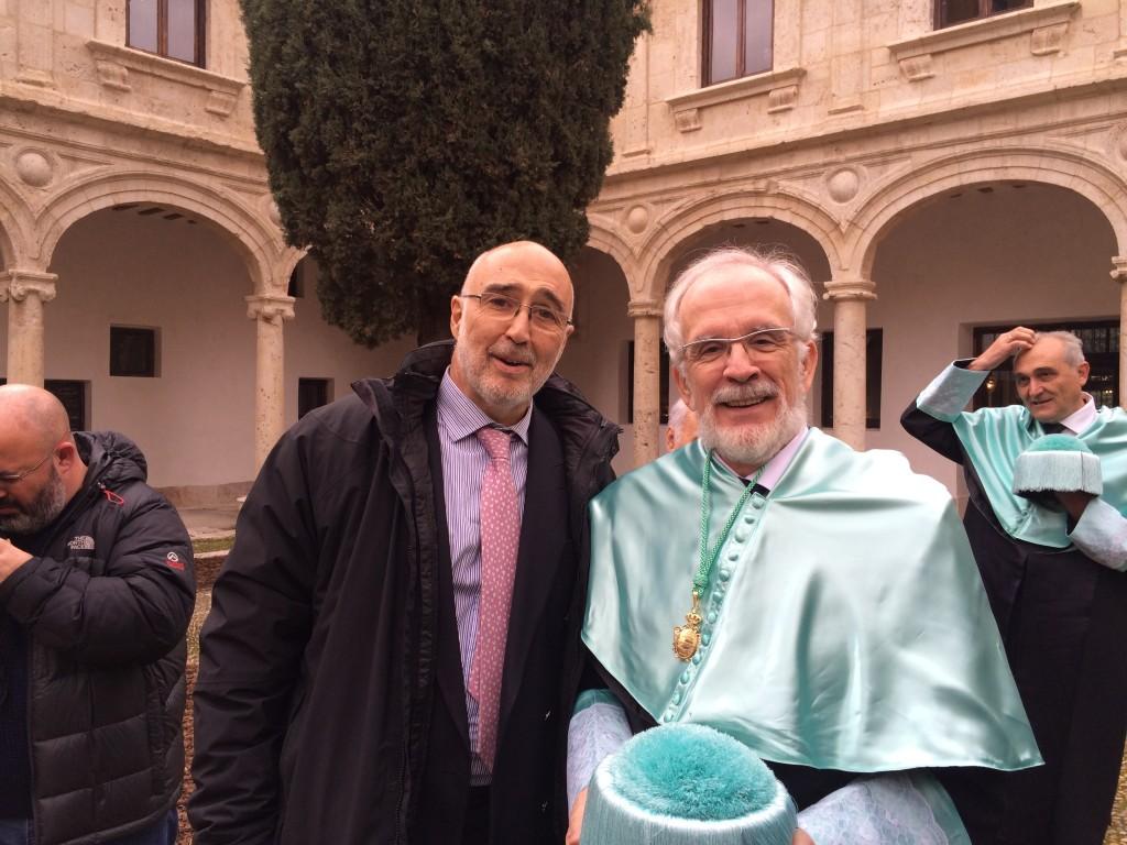 Forges con el Dr Hernández Manso, presidente de la Fundación Ana de Paz